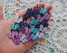 Crochet Appliques for your crafts. Dollhouse miniatures by SiniCrochet Crochet Sunflower, Crochet Butterfly, Crochet Flowers, Tiny Flowers, Colorful Flowers, Crochet Appliques, Flower Applique, Handmade Items, Handmade Gifts