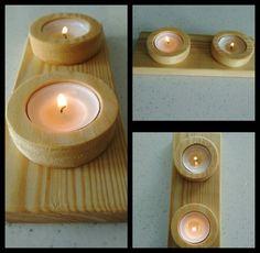 Handmade wooden candle. By erdaltekin