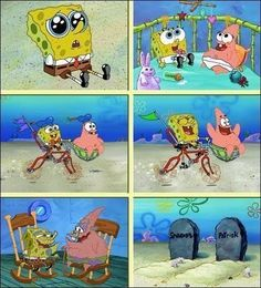Spongebob,Patrick,Friendship,Cute,Funny Basically explains me and Callie's friendship.
