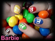 M Nails - Nail design inspired by The beloved M candies.