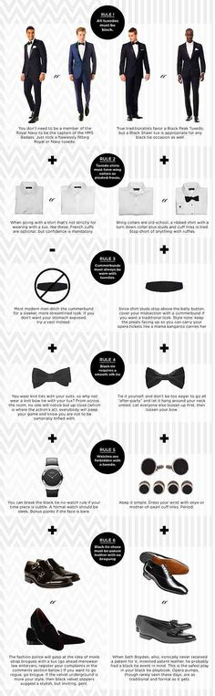 How to wear a tux the right way.