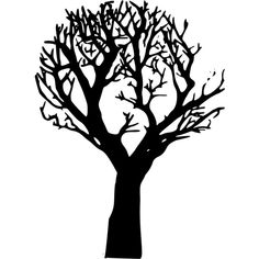 Tree 003 ❤ liked on Polyvore featuring backgrounds, trees, filler, black and white and halloween