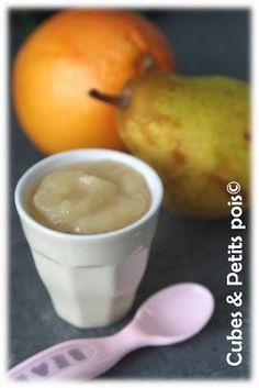 Recette pour bébé à base de pamplemousse dès 6 mois dans cette compote de poire pour cet automne. Cela permet d'initier bébé à l'acide et aussi à éviter l'oxydation de la poire.