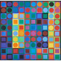 VICTOR VASARELY (Hungarian, 1906-1997) Price Estimate: $800 - $1000. Sold today March 28, 2015 for $1,900. Lot# 1119. Modern Art