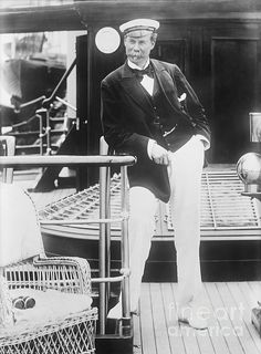 Thomas Johnstone Lipton (1848-1931), Scottish yachtsman. Lipton, famous for founding the Lipton tea brand, was a keen yachtsman. He competed five times in the America's Cup between 1899 and 1930. This photograph, sent by Lipton to a friend, carried an inscription dated 17 October 1902, referring to himself as skipper of his steam yacht the Erin (purchased 1898). Lipton made his fortune by investing in tea plantations to supply his chain of grocery stores, starting in Glasgow and then extending across the UK. He had been created Knight Commander of the Royal Victorian Order (KCVO) in 1901, and was made a baronet in 1902.