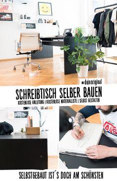 Stylischer, Schicker, Massiver DIY Schreibtisch Aus Holz Und Mit  Ablagefächern Zum Selberbauen.