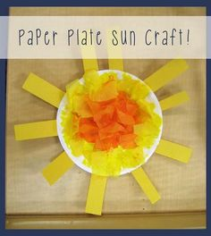 Paper Plate Sun Craft for Kids!                                                                                                                                                                                 More