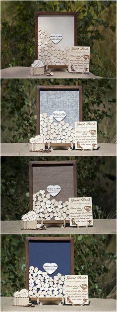 Wedding guest book alternative,Wedding guestbook alternative,Wedding guest book ideas,Drop box guest book,Wooden Hearts,Wedding Sign Rustic