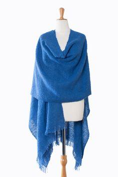 Prachtige handgeweven comfortabele omslagdoek uit Peru van alpaca