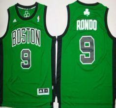 Boston Celtics Jersey 9 Rajon Rondo Revolution 30 Swingman Green With Black  Jerseys 046929249