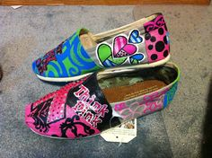 Breast Cancer Awareness Toms by Heart-N-Sole