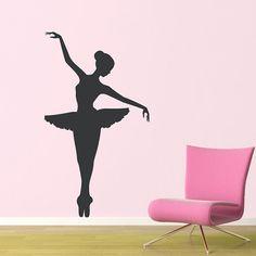 Ballerina Wall Decal - Large - Girl Bedroom Wall Decor on Etsy, $36.00