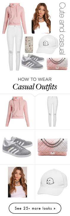 """Cute and casual"" by hayley101boo on Polyvore featuring Vetements, River Island, adidas Originals and Chanel"