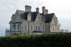 """bostonstylehub: """"Architecture: Elegance by the Sea Newport, Rhode Island: Anglesea, a Victorian cottage, was built in 1880. -Photo by Wally..."""