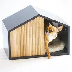 Stylish 32 Captivating Plywood Dog House Design Ideas With Fishbone To Insoire You Animal Room, Animal House, Pet Station, Modern Dog Houses, Pet Hotel, Creation Deco, Pet Furniture, Pet Life, Dog Bed
