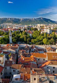 De Bell Tower in Split is a old city in Central Dalmatia_ Croatia