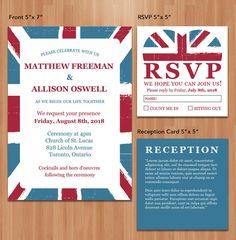 Romantic Very British Wedding Design by AlleywayMarketplace, $25.00