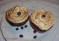 muffin al cioccolato con frosting al caffè!
