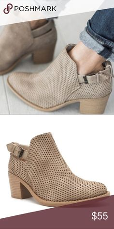 JENNER Buckle Bootie - STONE Super comfy. Fits true to size. pic 2 is true color. Shoes Ankle Boots & Booties