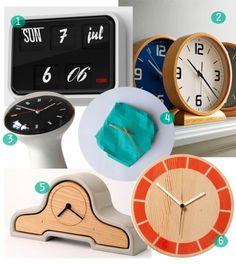 sleek clocks for the home