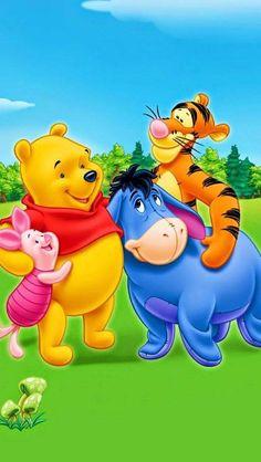 Winnie-the-Pooh - Piglet -Tigger & Eeyore Eeyore Pictures, Winnie The Pooh Pictures, Cute Winnie The Pooh, Winne The Pooh, Winnie The Pooh Quotes, Winnie The Pooh Friends, Mickey And Friends, Friends Wallpaper, Disney Wallpaper