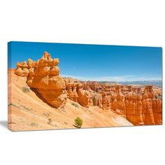 """DesignArt 'Beautiful Bryce Canyon' Photographic Print on Wrapped Canvas Size: 16"""" H x 32"""" W x 1"""" D"""