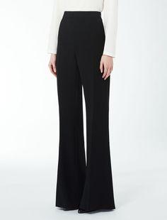 Max Mara ARTUR nero: Pantaloni in cady.