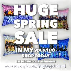 Spring Sale at my Society6 webshop now with Code: SPRINGTOIT , follow link in my bio @alanhogano .....Offer Starts: Monday, 9 April @ 12:00am PT .....Ends: Monday, 9 April @ 11:59pm Details: 40% Off tapestries, 30% Off Art Prints + framed prints, 20% Off everything else. . . #society6offers #discount #society6shop #specialdeals #offers #dealoftheday #deals #moneyoff #artdeals #homedecor #redecorate #shareyoursociety6 #whileofferlasts #springtoit #springsaleoffers #springsale