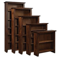 Knotty Alder Tobacco Bookcase