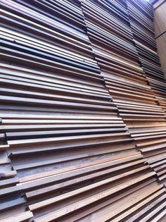 Wood slat wall at the BRIT