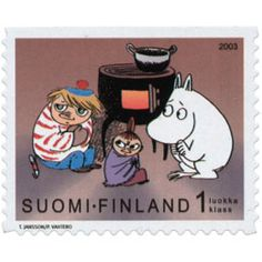 Tove Jansson, Moomin Valley, Postage Stamps, Finland, Nostalgia, Lunch Box, Retro, Paper, History