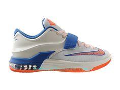 cheaper 29e62 2ebe6 Nike KD 7 iD - Chaussure De Basket-ball pour Homme Pas Cher Blanc Bleu