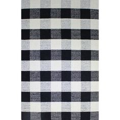 Royal Black/White Rug (2 x 4) | Overstock.com Shopping - The Best Deals on Accent Rugs