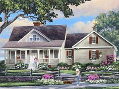 063H-0224: Country Ranch House Plan; 1903 sf