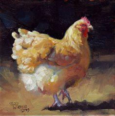 Original artwork by Terri Wagner. Watercolor and Oil Paintings Terri Wagner Studio. Rooster Painting, Rooster Art, Chicken Painting, Chicken Art, Paintings I Love, Animal Paintings, Motifs Animal, Chicken Pictures, Bird Art