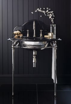 La Parisienne Single Nero Marble Washstand by Catchpole & Rye #luxury #bathroom #design
