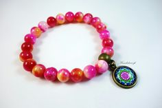Mandala Bracelet with Natural Stones  www.mandalove.pl