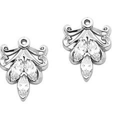 Pair of 14K White Gold Diamond Earring Jackets - 0.30 Ct. Gems-is-Me. $2026.16. FREE PRIORITY SHIPPING. This item will be gift wrapped in a beautiful gift bag. In addition, a 'gift message' can be added.