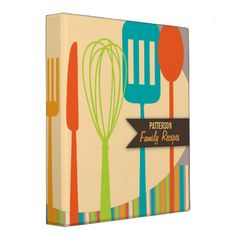 Shop Retro Kitchen Cooking Utensils Recipe Binder created by kat_parrella. Personalize it with photos & text or purchase as is! Cooking Spatula, Cooking Utensils, Cooking Measurement Conversions, Cooking Pork Chops, Recipe Binders, Recipe Organization, Kitchen Organization, Binder Design, New Kitchen Cabinets