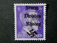 Local Deutsches Reich WW II Occupation overprint Rhodos used