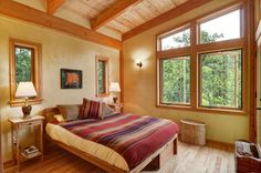 Timber frame beauty by Nir Pearlson in Oregon. His firm specializes in…