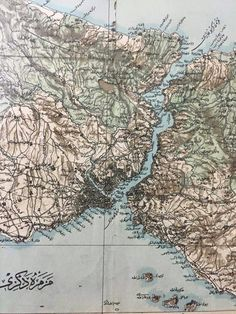 Bosphorus map at ottoman's time