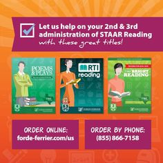 These great titles are sure to get your students to pass the 2nd and 3rd administration of STAAR Reading!