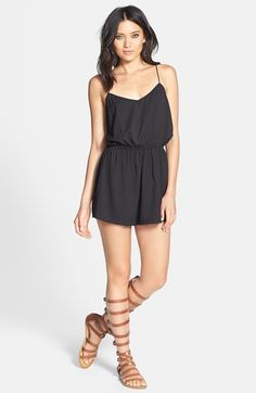 The whole outfit looks cute and comfortable! GLAMOROUS Cross Back Blouson Romper