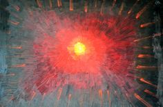 "EVELYN SPATZ OIL PAINTING ""SUPER NOVA"" INSPIRED BY MR GERHARD RICHTER 36"" x 48""  #Expressionism"