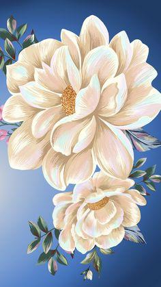 Plant Wallpaper, Flower Phone Wallpaper, Cute Wallpaper Backgrounds, Wallpapers, Floral Artwork, Floral Prints, Tableaux D'inspiration, Flower Art Drawing, Cherry Blossom Art