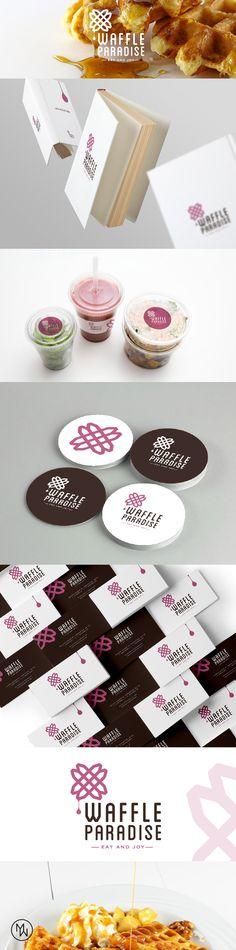 waffle logo design - food