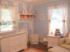 Traditional baby boy nursery