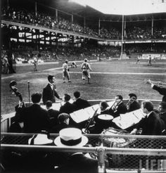 Band in the box seats, 1939 at Ebbets Field