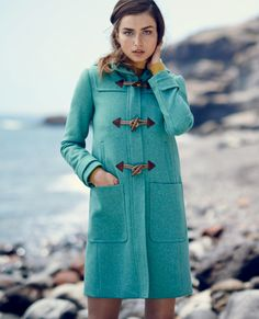 J.Crew women's Melton toggle coat. To preorder call 800 261 7422 or email erica@jcrew.com.
